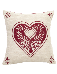 Red decorative pillow