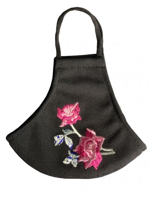 玫瑰绣花防护口罩