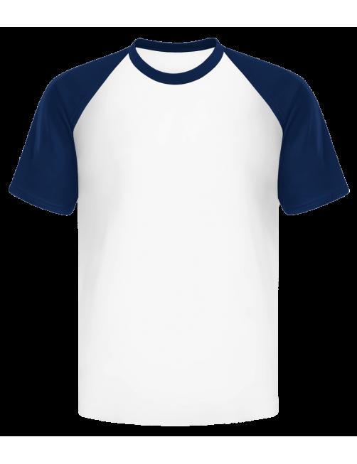 自定义设计袖子配色男士体恤衫