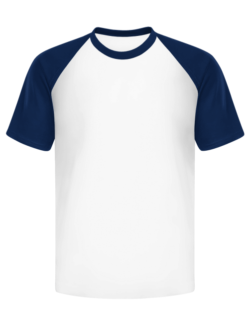 T-shirt manica rosso/blu...