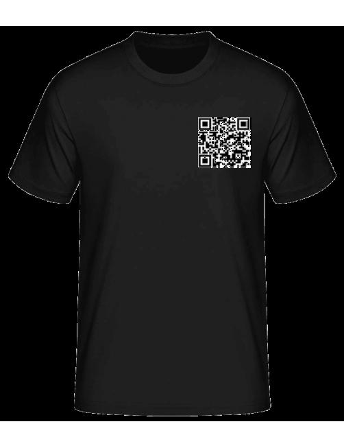 可扫描健康码男士体恤衫
